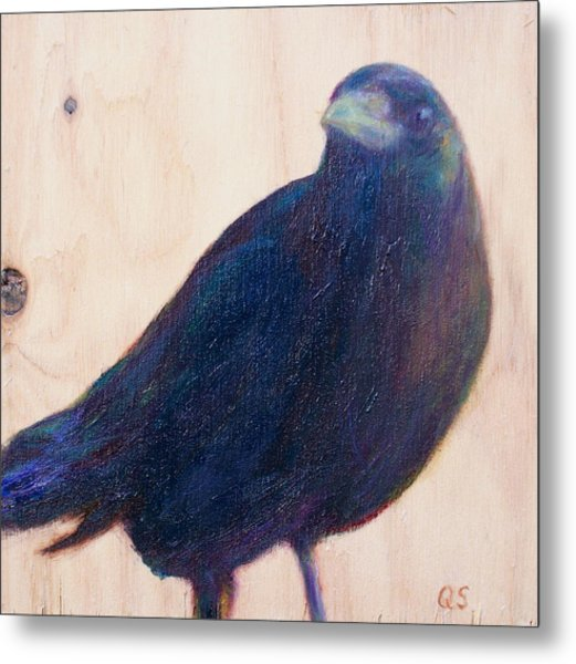 Crow Friend Metal Print