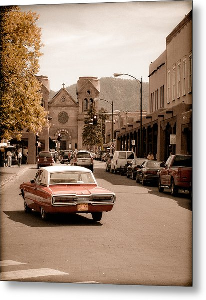 Santa Fe, New Mexico - Cruising Santa Fe Metal Print