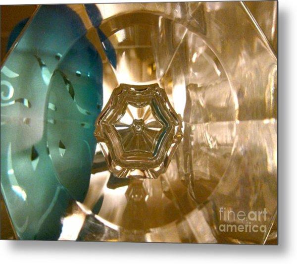 Crystal Glass Abstract Metal Print