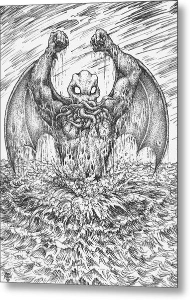 Cthulhu Rising Metal Print