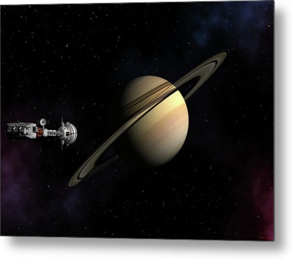 Cumberland Passing Saturn Metal Print