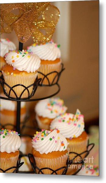 Cupcakes Anyone Metal Print by Melissa Haley