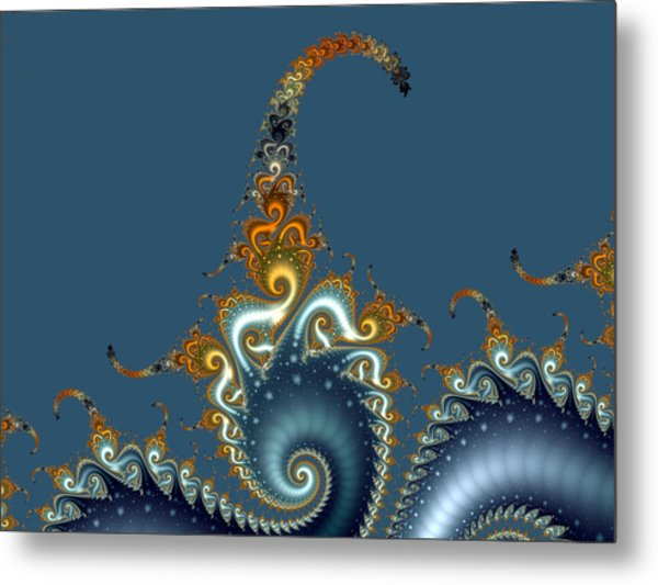 Curly Curly Metal Print