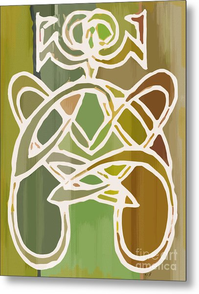 Unique Earthy Ethnic Woman Abstract Print For Interior Design Metal Print by Marie Christine Belkadi