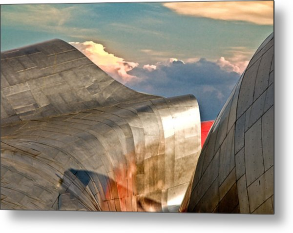 Curves Of Steel Metal Print