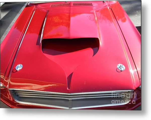 Custom Red Ford Mustang - 5d19305 Metal Print by Wingsdomain Art and Photography