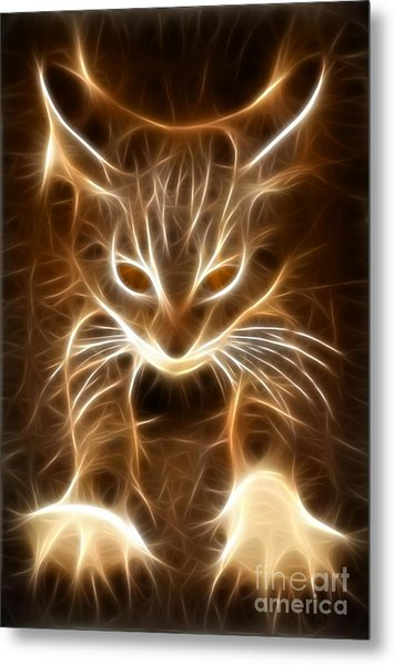 Cute Little Kitten Metal Print