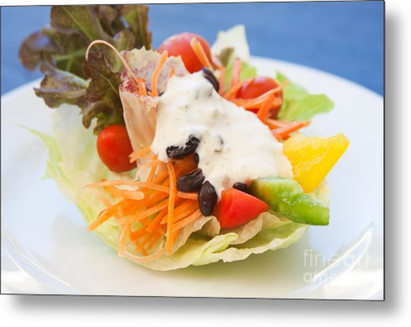 Cute Salad Metal Print