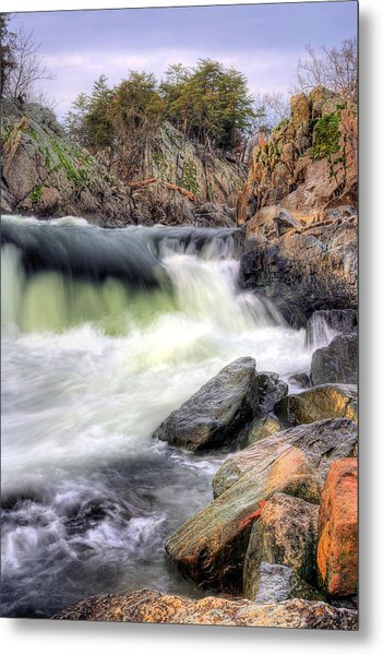 Cutting Through The Rock Metal Print by JC Findley