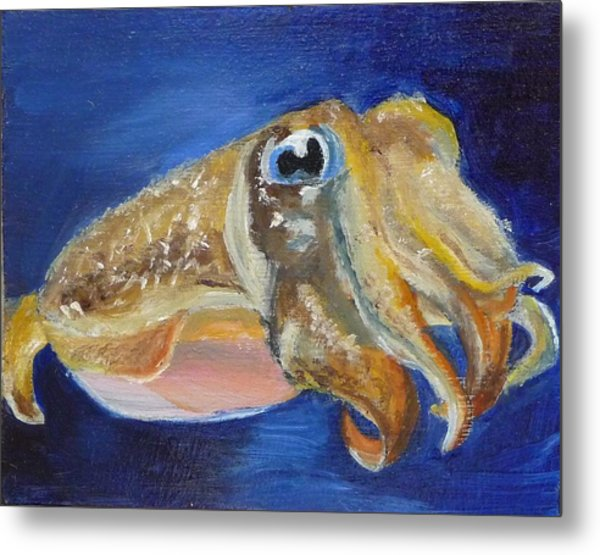 Cuttle Fish Metal Print
