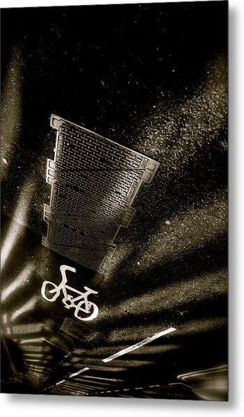 Cycling Shades Metal Print by Jez C Self