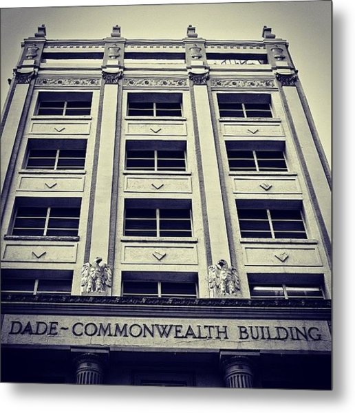 Dade Commonwealth Bldg. - Miami ( 1925 Metal Print