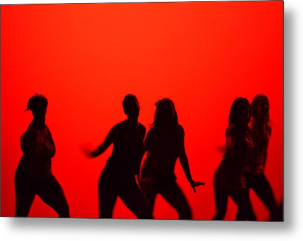 Dance Silhouette Group Metal Print