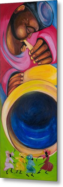 Dance To My Tune Metal Print by Chibuzor Ejims