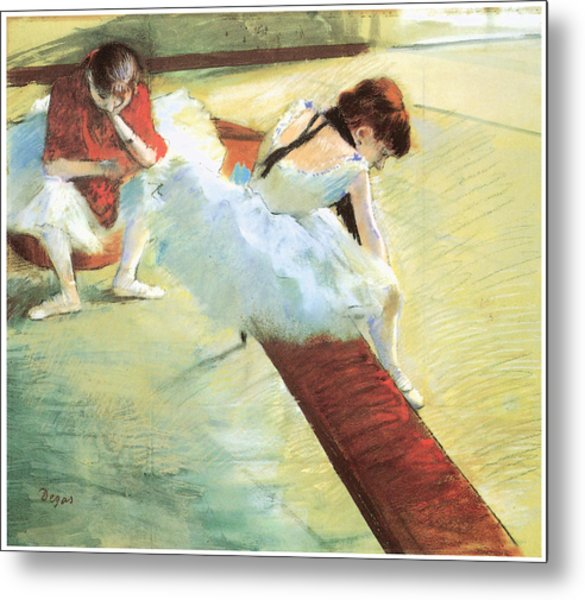Dancers Resting Metal Print by Edgar Degas