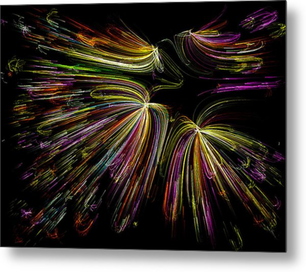 Dancing Colors Metal Print