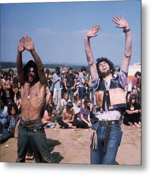 Dancing Hippies Metal Print by Keystone