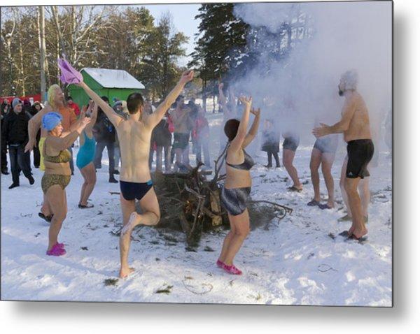 Dancing On The Snow Metal Print by Aleksandr Volkov