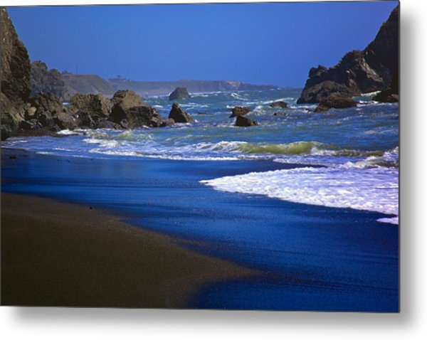 Dark Beach Metal Print