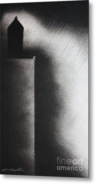 Darkness Shrouds My House Metal Print