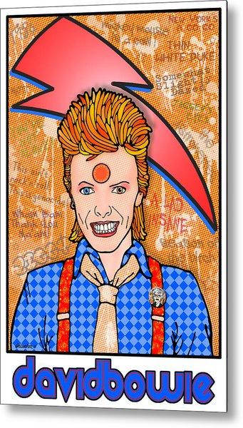 David Bowie Metal Print by John Goldacker