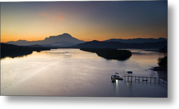 Dawn At Mengkabong River Metal Print