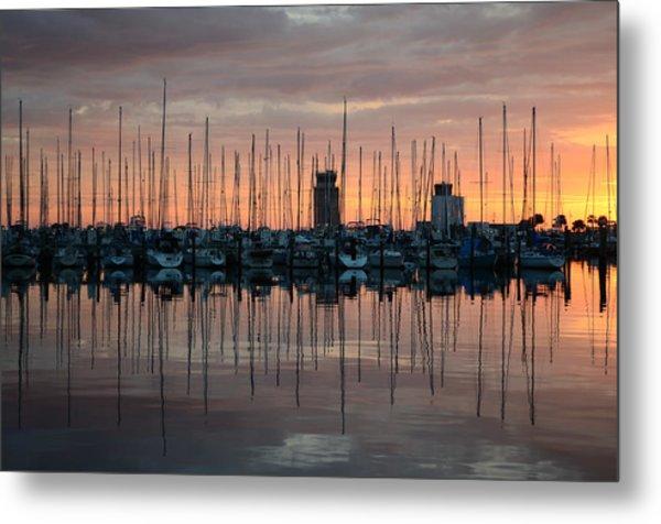 Dawn At The Marina Metal Print