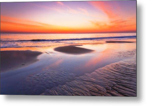 Dawn On Plum Island Metal Print by Lisa Pelonzi