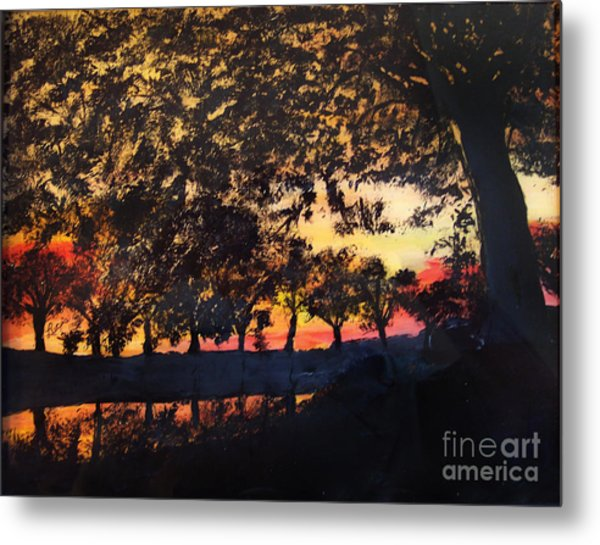 Dawn On The Canal Metal Print