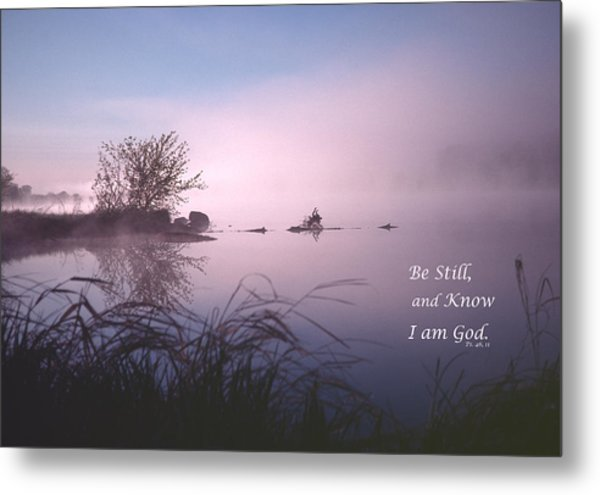 Dawn On The Chippewa River Metal Print