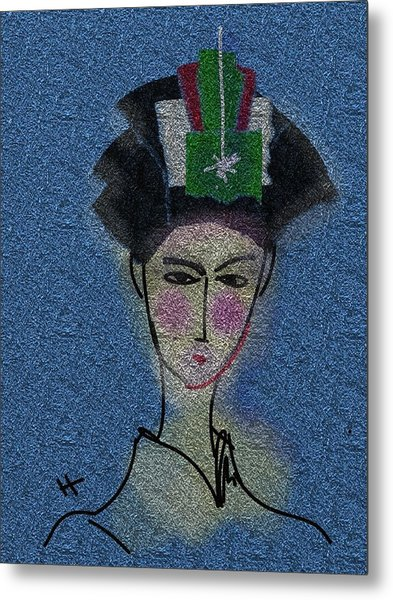 Day Dream Of A Geisha Metal Print by Hayrettin Karaerkek