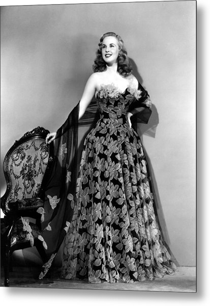 Deanna Durbin In Hoop Skirt Styled Lace Metal Print by Everett