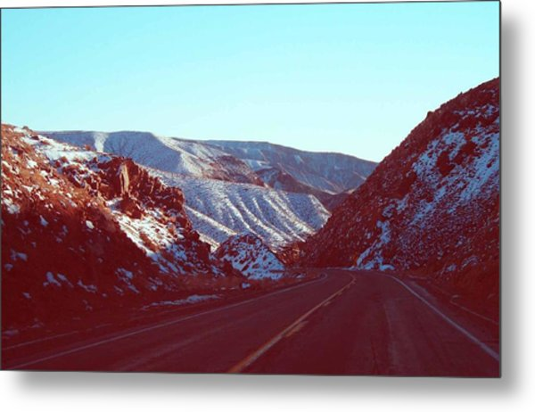 Death Valley Road Metal Print
