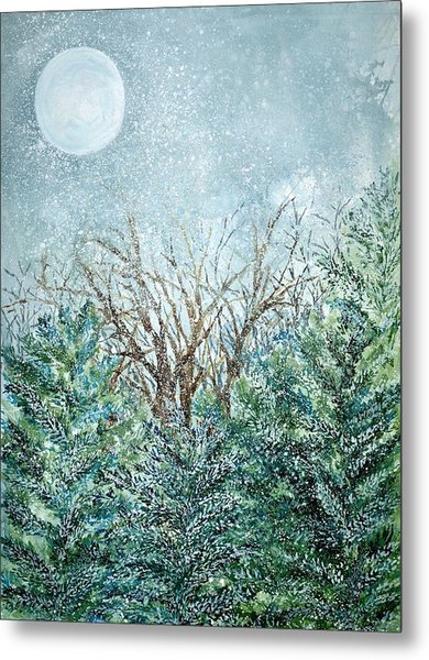 December Full Cold Moon Metal Print by Robin Samiljan