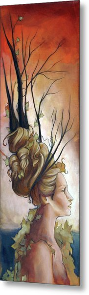 Deco On Her Mind  Metal Print by Jacque Hudson