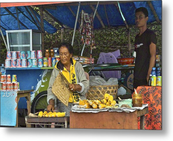 Delicious Corn - Bali Metal Print