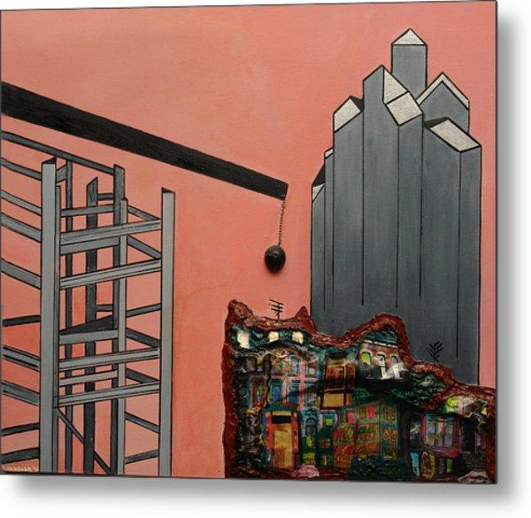 Demolition And Construction Metal Print