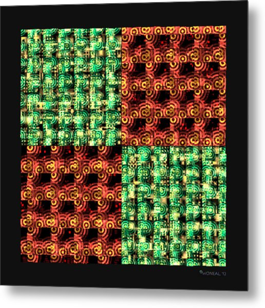 Denzone Tile 4 Metal Print by Walter Neal
