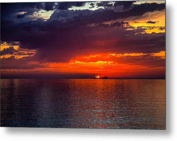 Departing At Dawn Metal Print