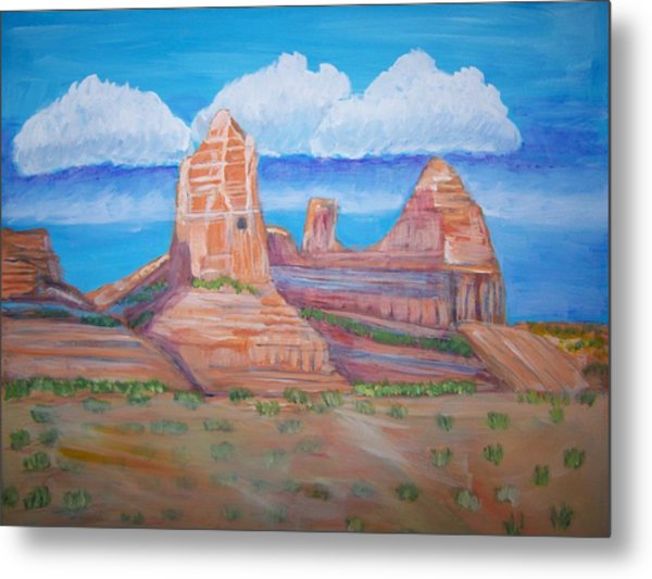 Desert Mountain Metal Print