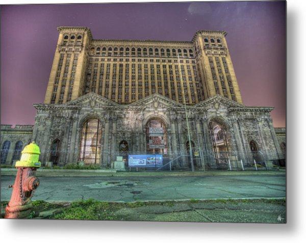Detroit's Michigan Central Station - Michigan Central Depot Metal Print