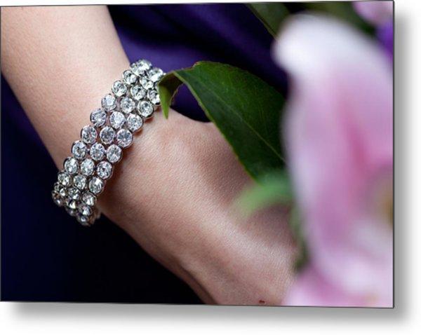 Diamonte Bracelet Metal Print
