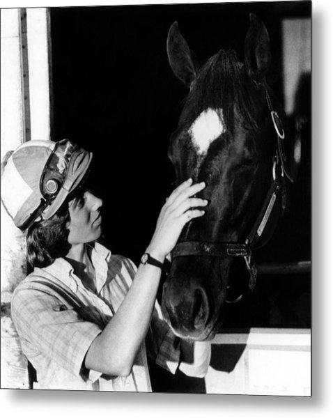 Diane Crump, The First Woman To Ride Metal Print