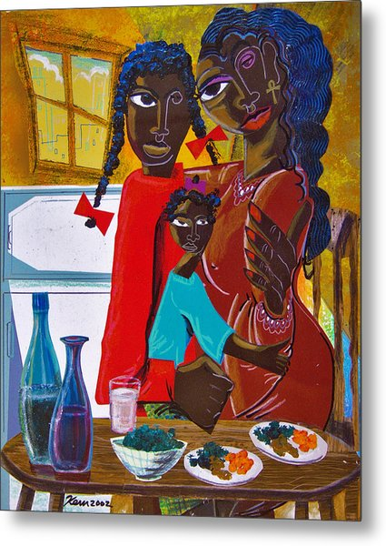 Dinner With Mom Metal Print by Kevin McDowell