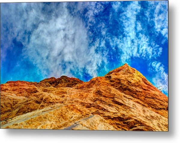 Dirt Mound And More Sky Metal Print