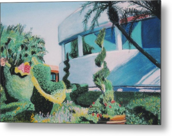 Disney Epcot Topiary Metal Print