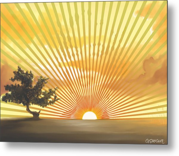Diva's Sunset Metal Print