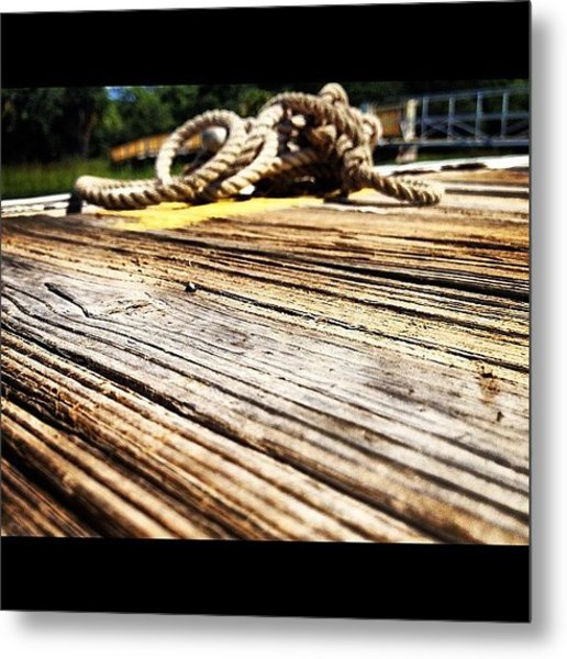 #dock #high #tides #south #lowcountry Metal Print