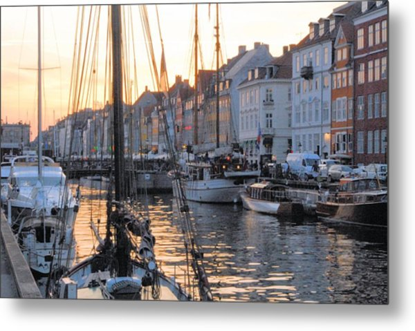 Docked For Dinner Metal Print by