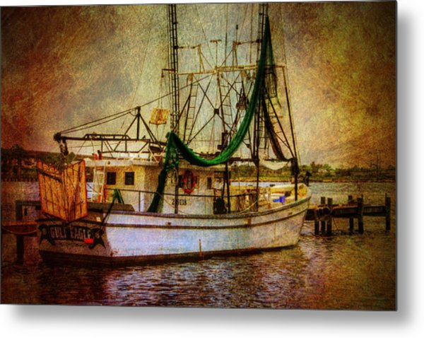 Docked In Backbay Metal Print